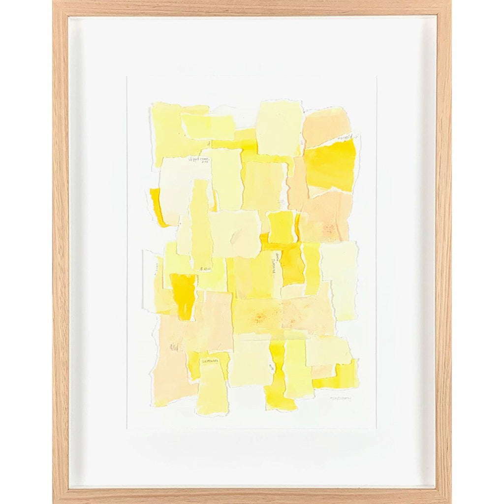 mondocherry colour sampler sunshine framed artwork