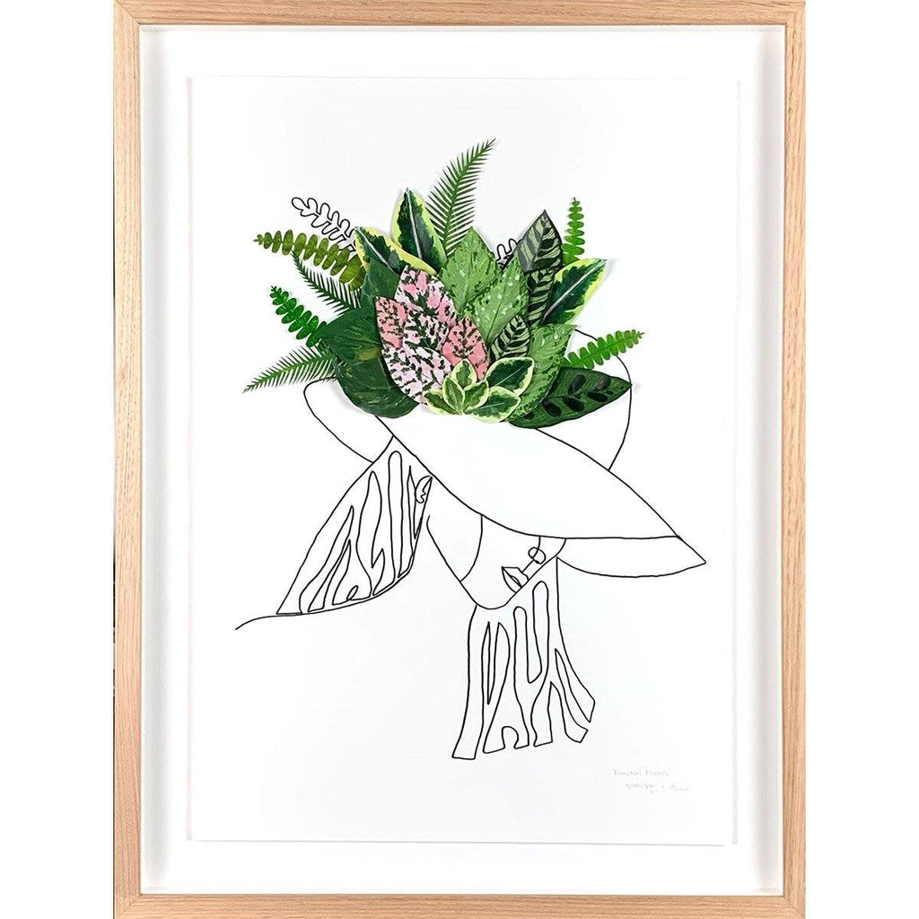mondocherry fascination meranta paper wall art