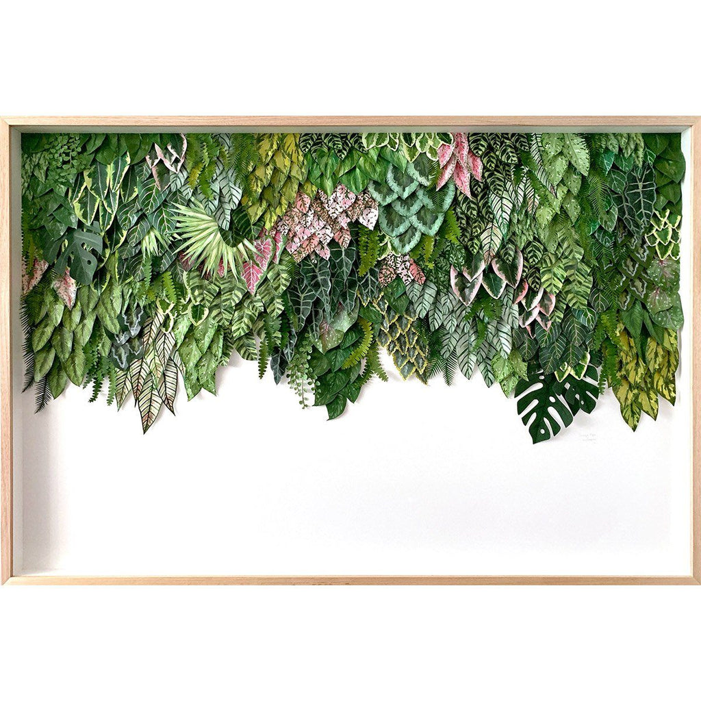 "mondocherry greenwall artwork ""Gunung Malu"""