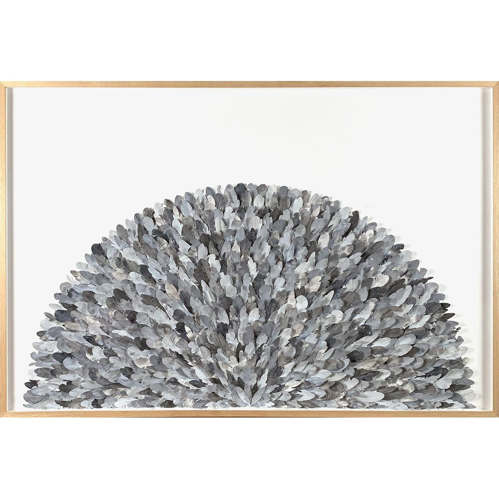 mondocherry junco paper feather wall art