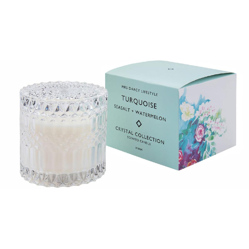 Mrs Darcy candles - turquoise - seasalt watermelon