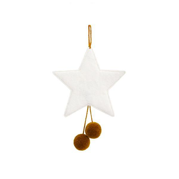 Muskhane | felt pom pom star decoration | natural-pollen