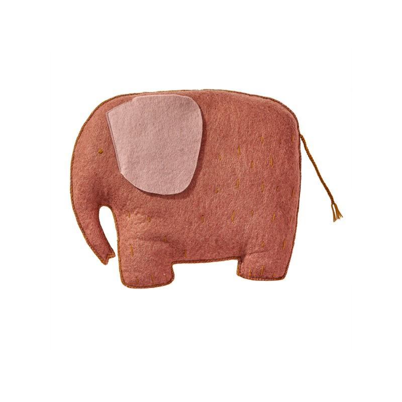 Muskhane - kids cushion elephant - coral