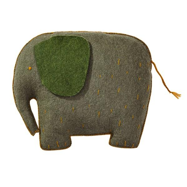 Muskhane - kids cushion elephant - mineral grey