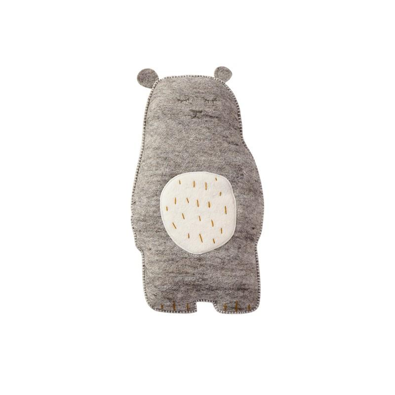 Muskhane - kids cushion grizzly bear - light stone