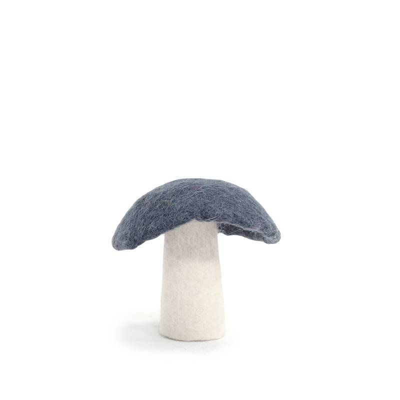 felt and garlands - Muskhane | felt mushroom | large | gris orage - mondocherry