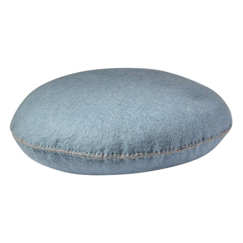 FLT round pintuck cushion ocean