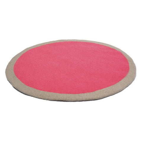 Muskhane Circle Rug Pink -  - mondocherry - home : style : design - 1