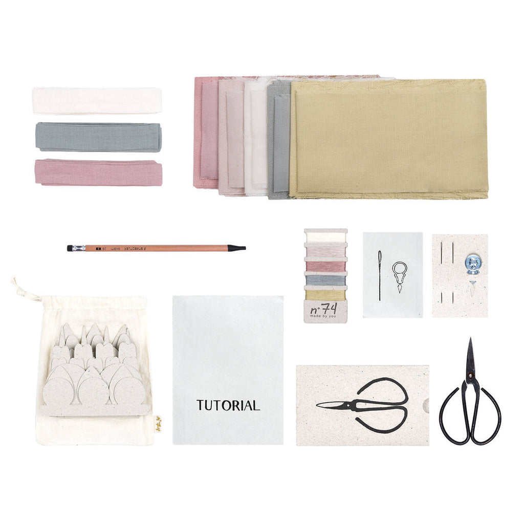 Numero74 | organic cotton flower kit | whisper