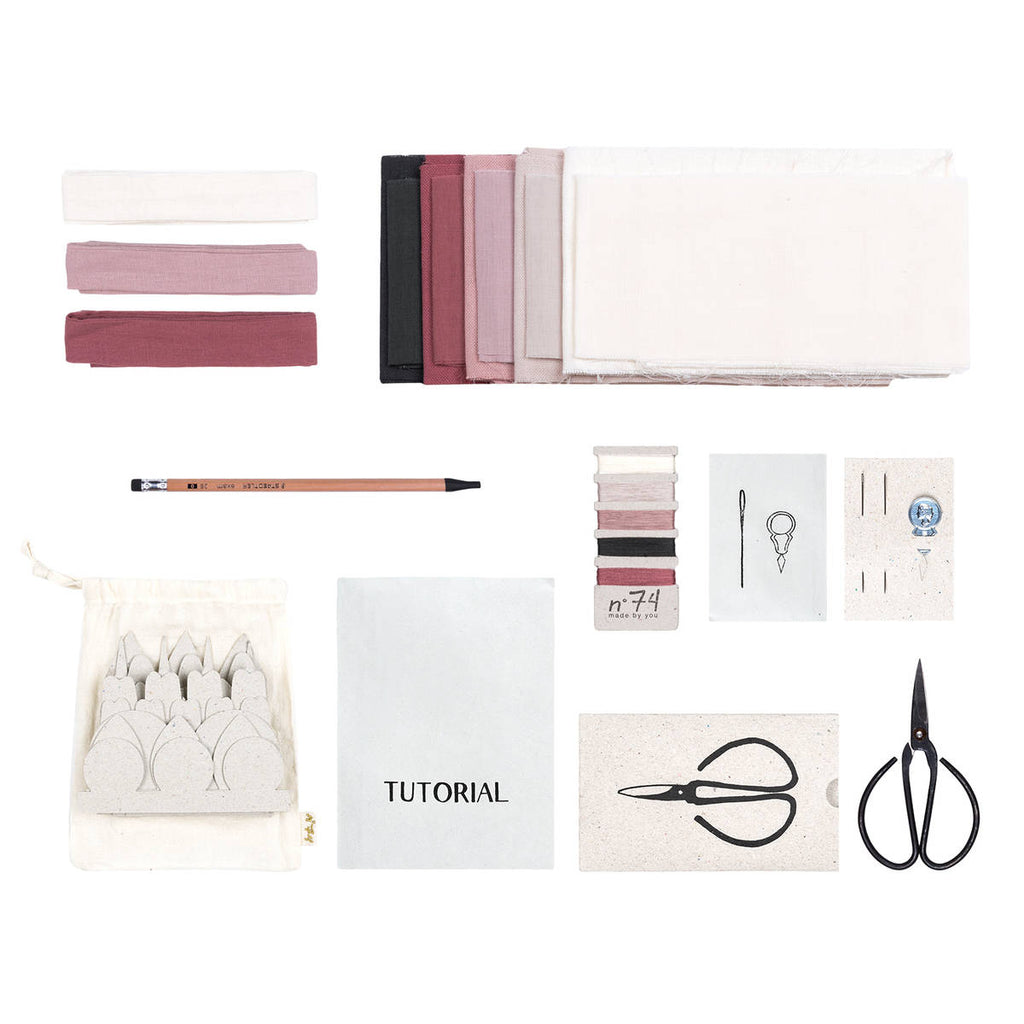 Numero74 | organic cotton flower kit | wild rose