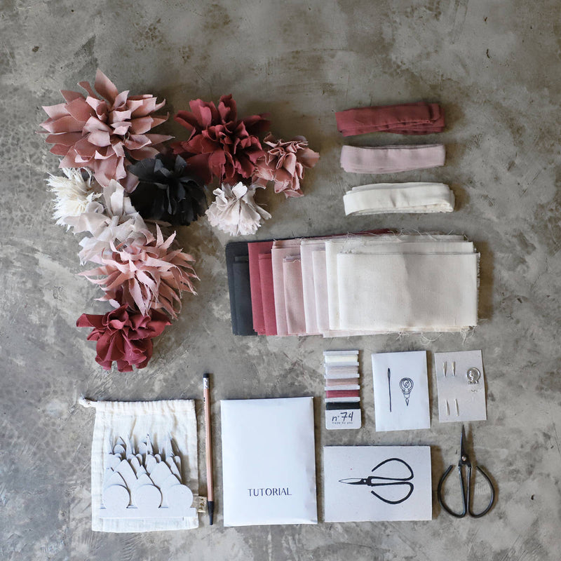 Numero74 | organic cotton flower kit | wild rose - layout