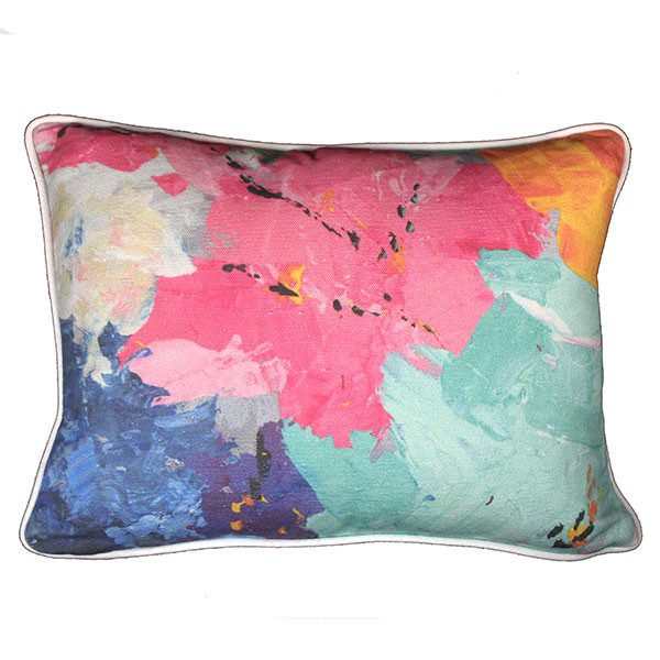 """painterly one"" cushion - cushion - mondocherry - home : style : design"