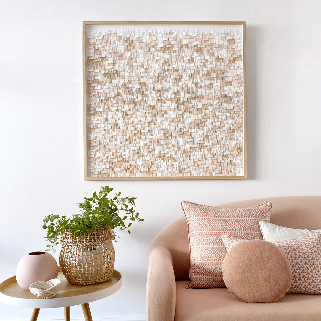 "mondocherry ""all about the texture"" paper wall art"