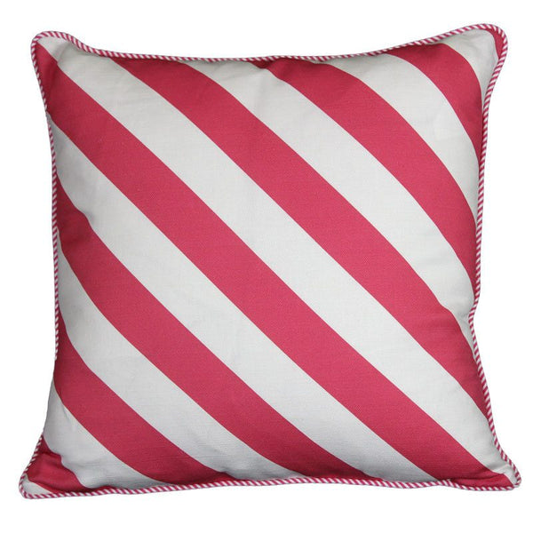 """serious stripes"" cushion in pink - cushion - mondocherry - home : style : design"