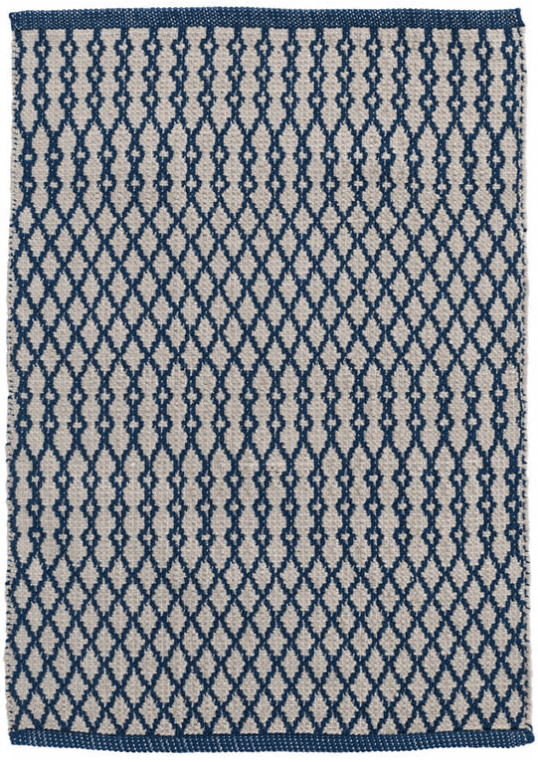 mat - Dash and Albert | harvey indoor outdoor mat | navy - mondocherry