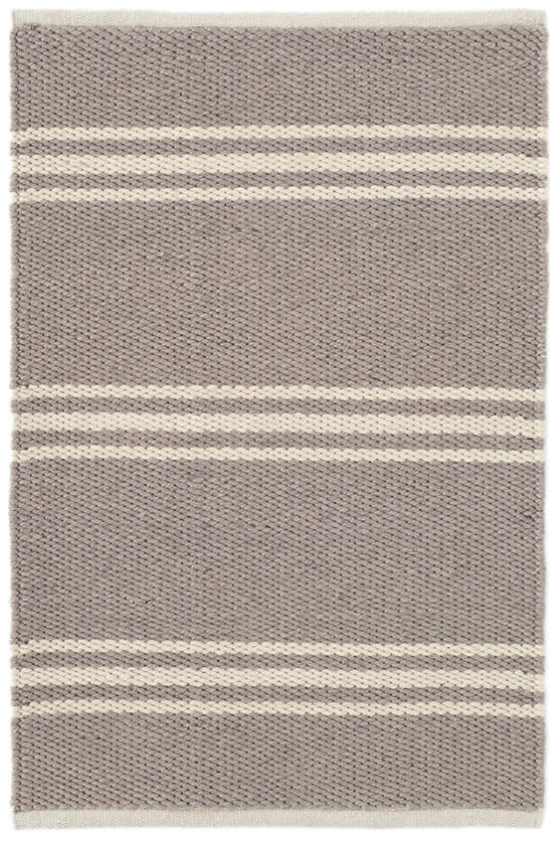 mat - Dash and Albert | lexington indoor outdoor mat | grey ivory - mondocherry