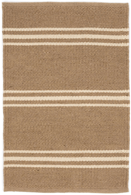 mat - Dash and Albert | lexington indoor outdoor mat | ivory camel - mondocherry