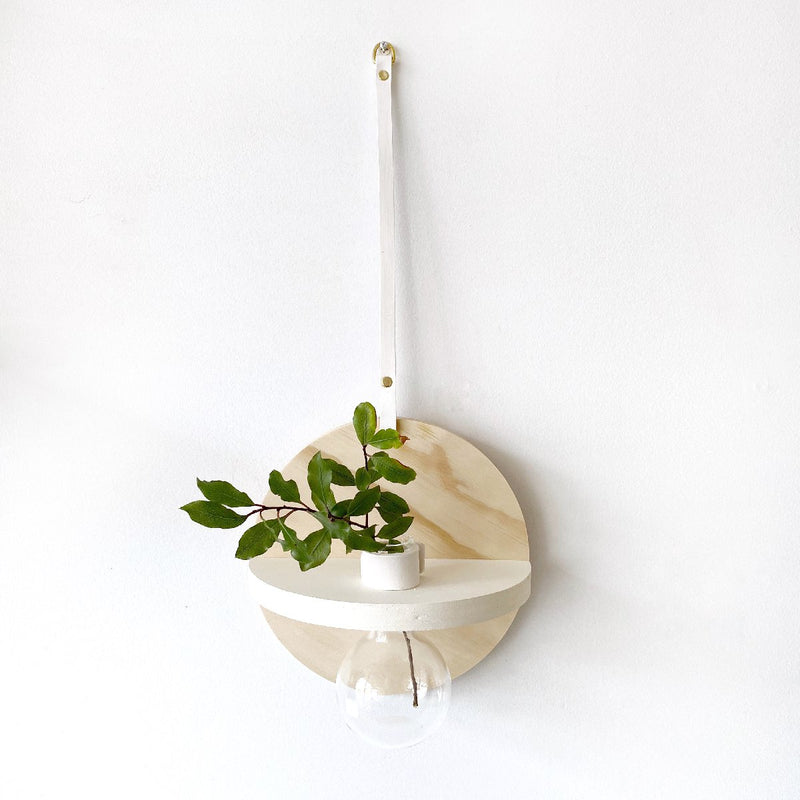 stix and flora | single teardrop vase | round