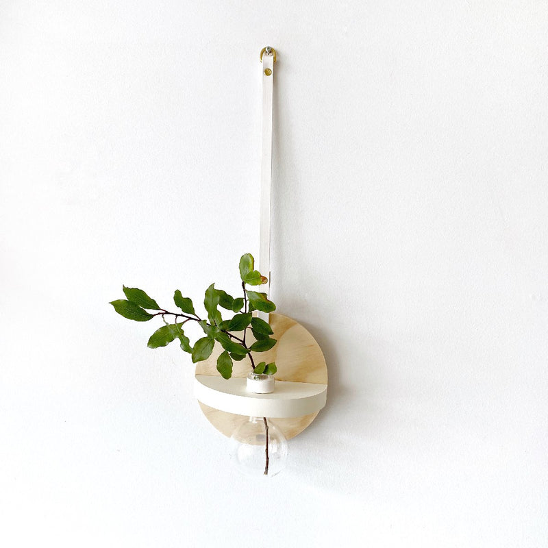 stix and flora wall decor | hoopla vase | small | white