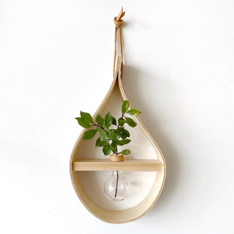 stix and flora wall decor | single teardrop vase | round