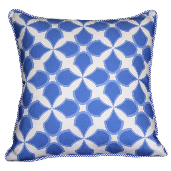"""tunisia"" cushion in periwinkle blue - cushion - mondocherry - home : style : design"