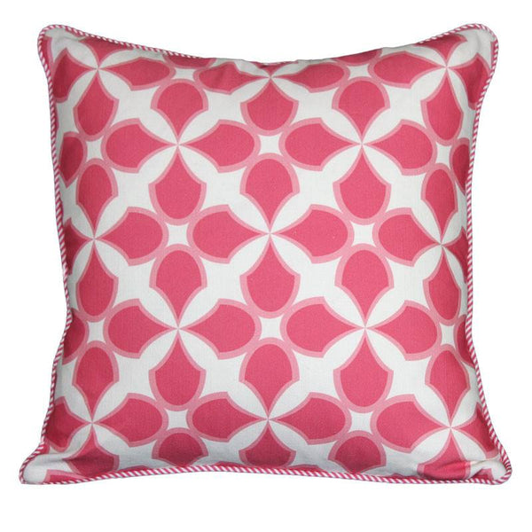"""tunisia"" cushion in pink - cushion - mondocherry - home : style : design"
