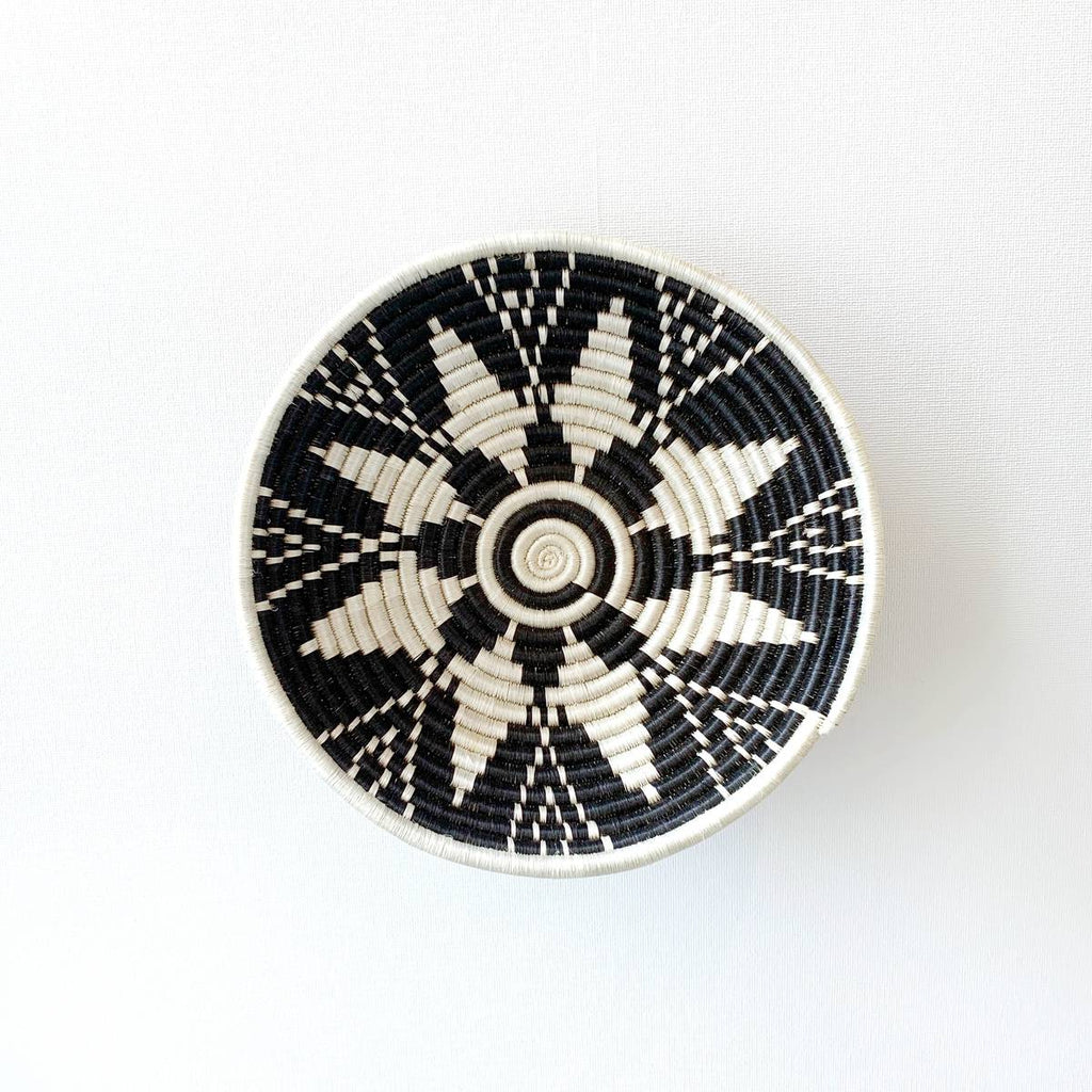 """Usiku"" African woven bowl #1 