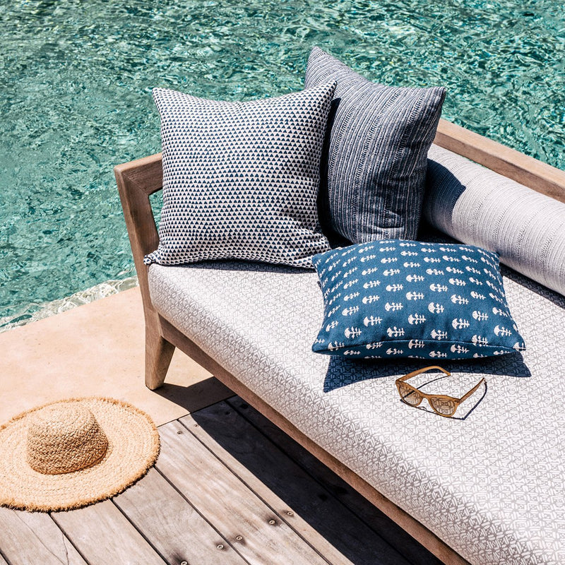 Walter G | saqqara outdoor cushion | atlantic - pool lounge