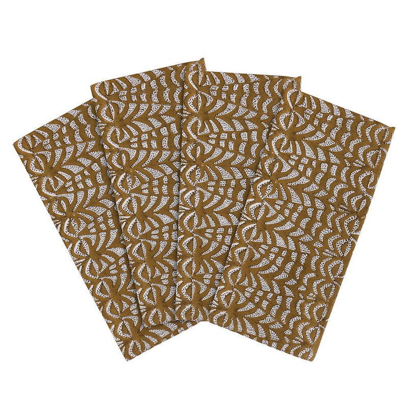 Walter G | panarea cotton napkins | saffron (set of 4)