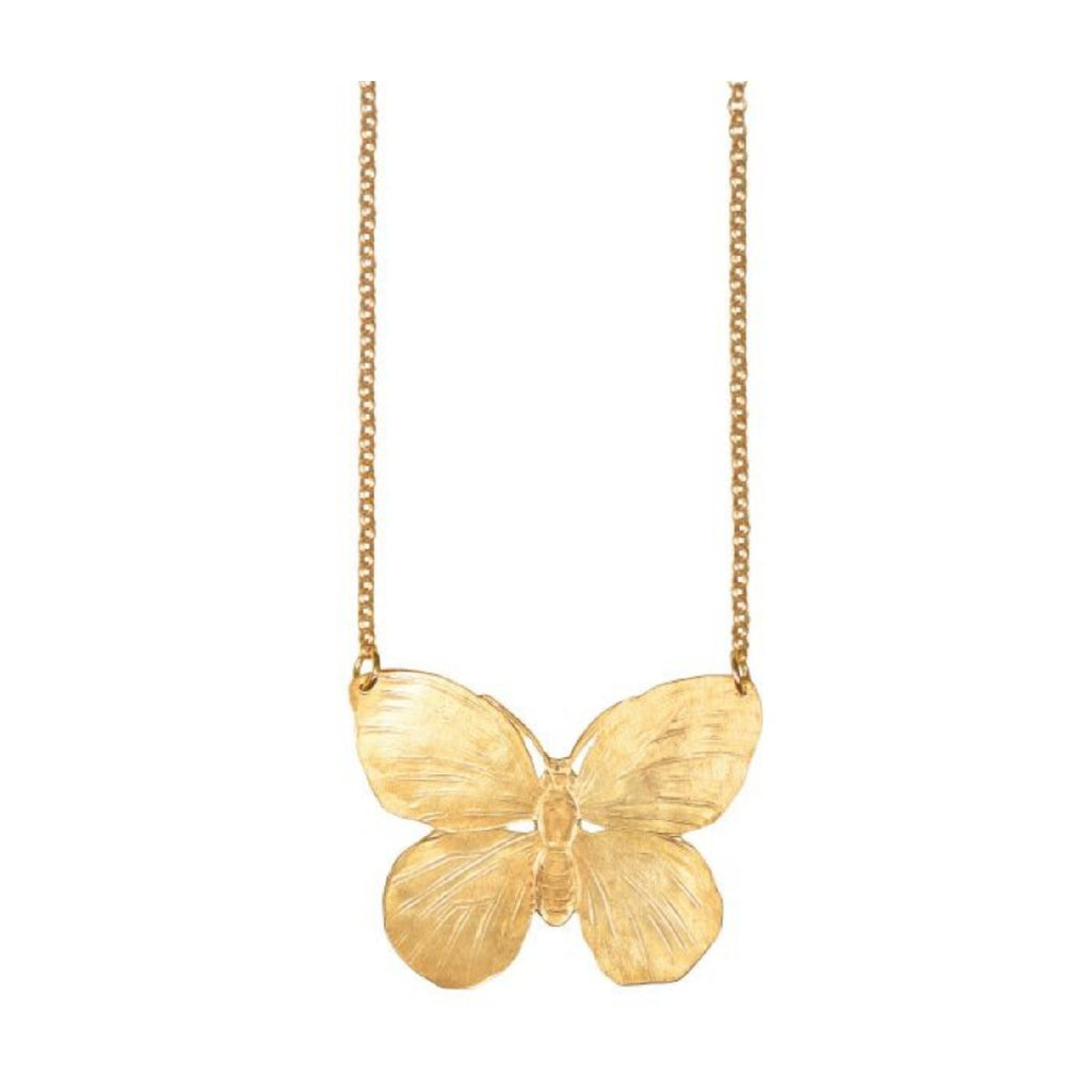 We Dream in Colour jewellery | gold butterfly necklace