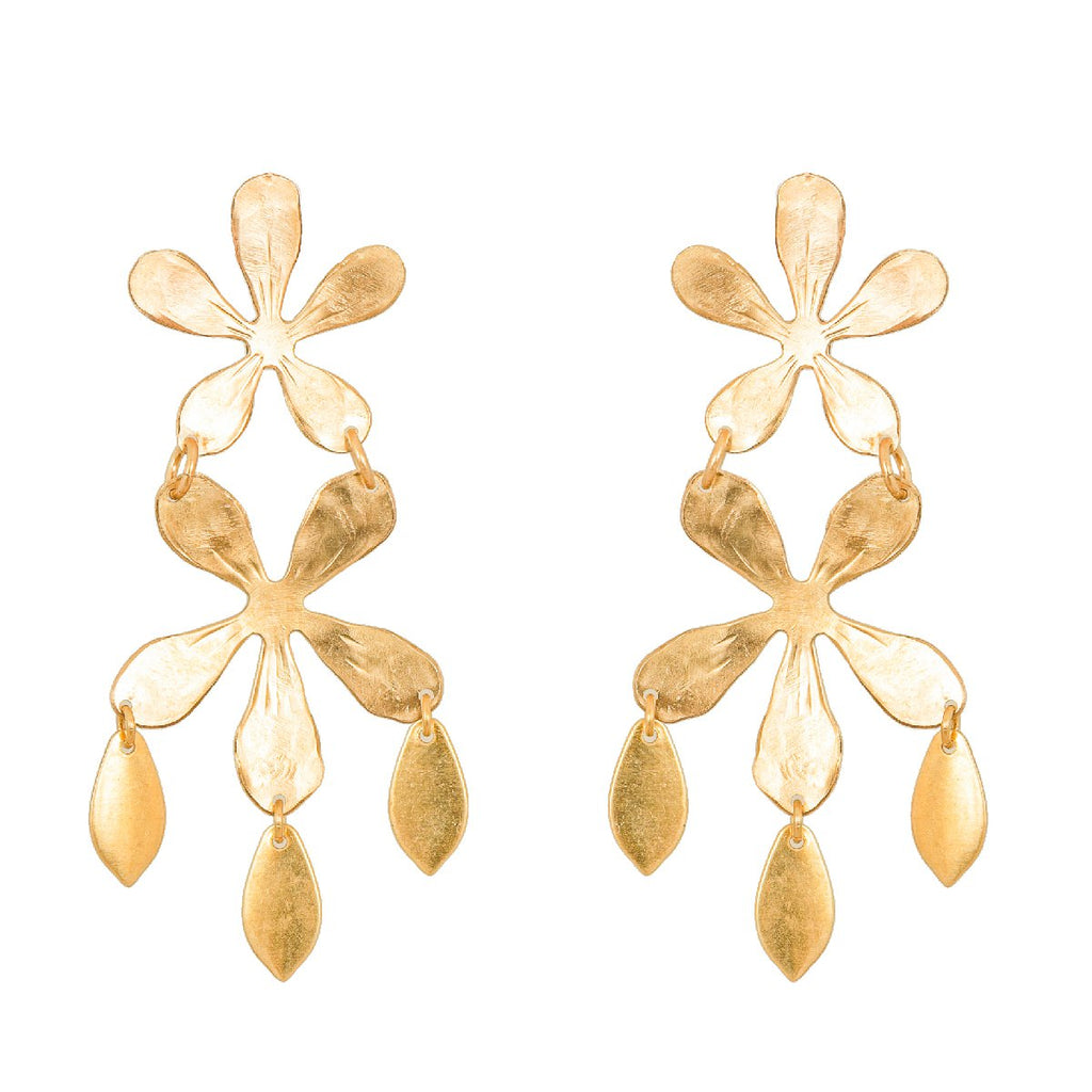 We Dream in Colour jewellery | gold blossom earrings