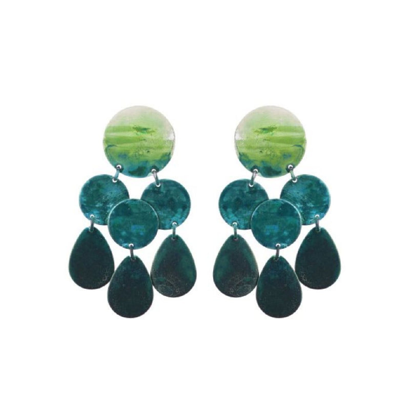 We Dream in Colour jewellery | moss amilia earrings