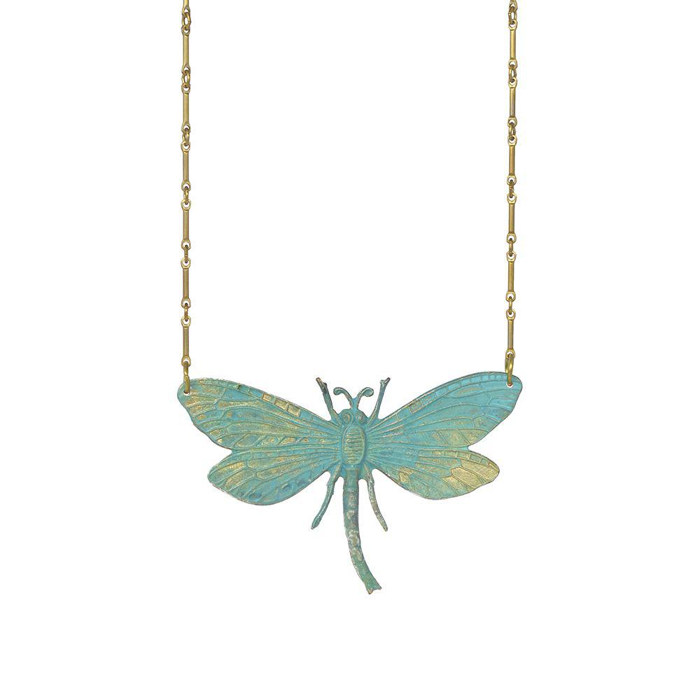 We Dream in Colour jewellery | verdi dragonfly necklace