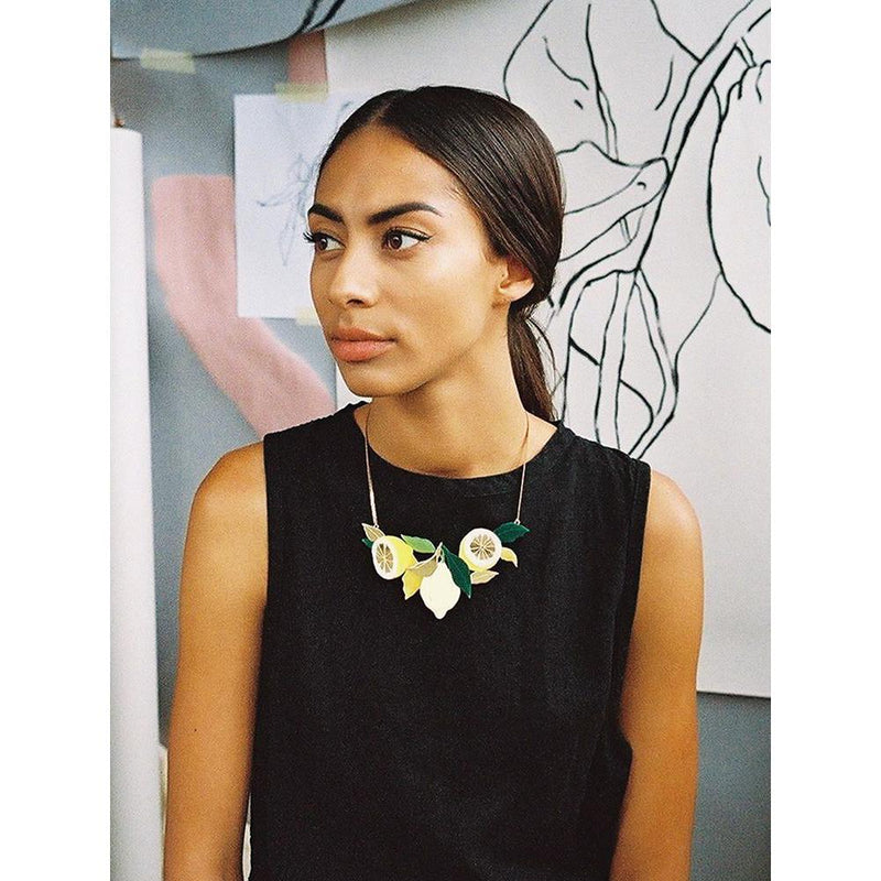 Wolf and Moon | statement necklace - lemon grove - wear