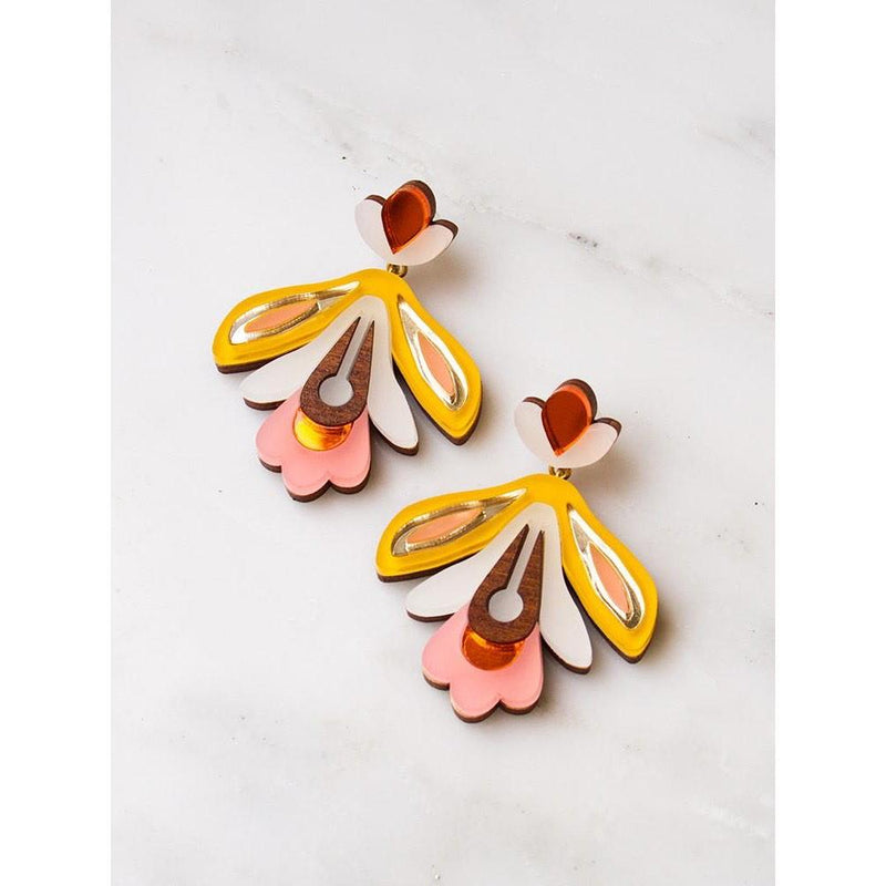 We Dream in Colour | petite butterfly garden earrings