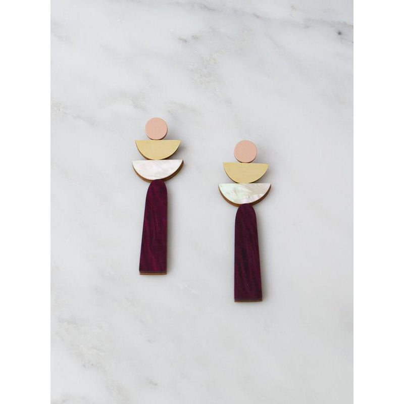 Wolf and Moon | selene earrings | cherry