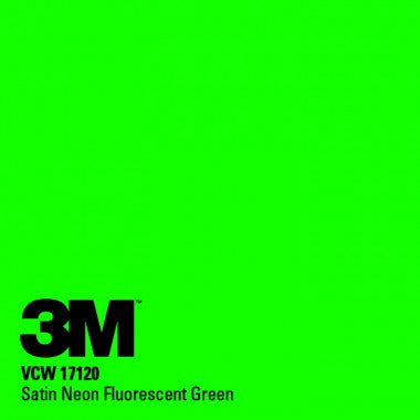 3M 1080 Wrap Satin Fluorescent Green Color Change Wrap Vinyl