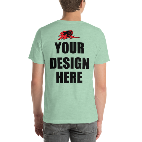 Print your custom Short-Sleeve T-Shirt, front & back (unisex)