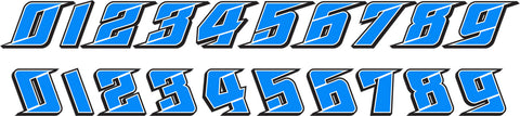 Speed Media Racewraps Number Kit #013