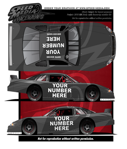 Build your own racewraps Number Kit