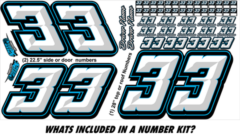 Racewraps Number Kit #002