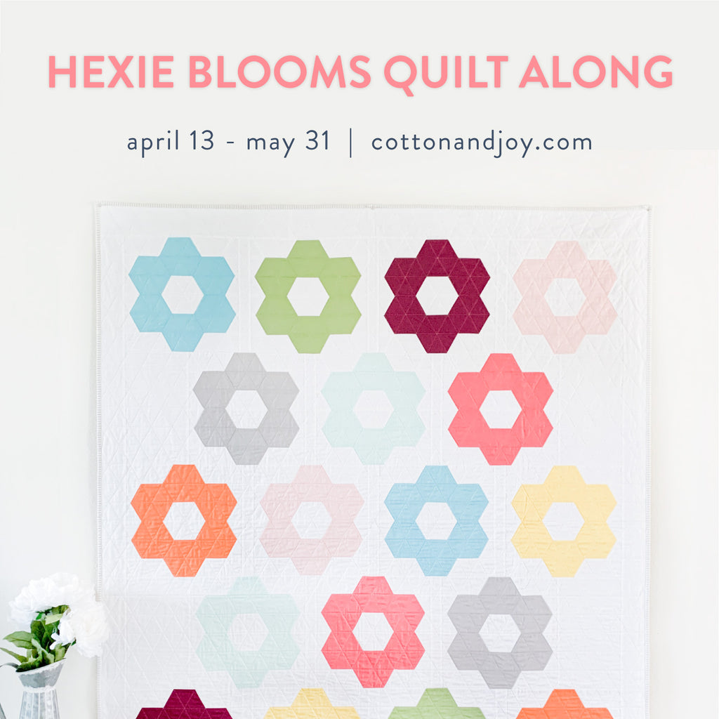 Coming Soon: Hexie Blooms Quilt along!