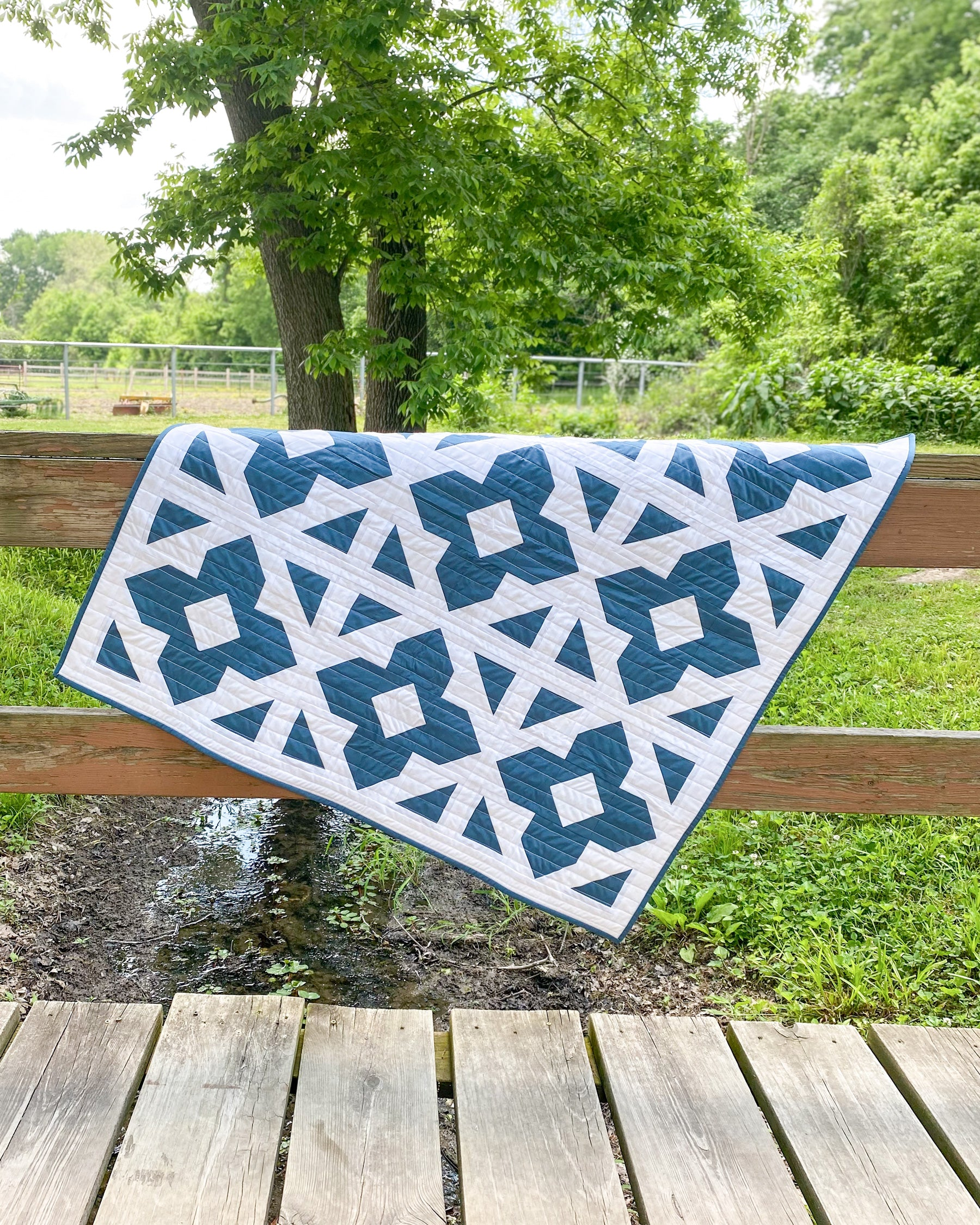 Luminaries Quilt by Cotton and Joy - two-color quilt in the wild