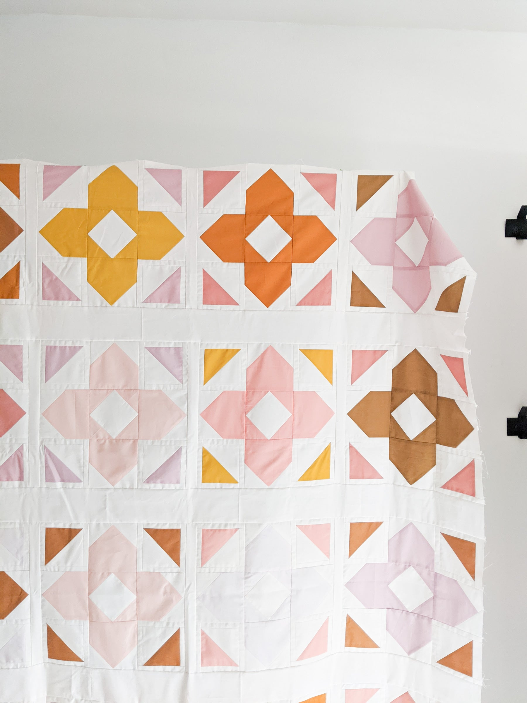 Neutral modern quilt - Luminaries by Cotton and Joy