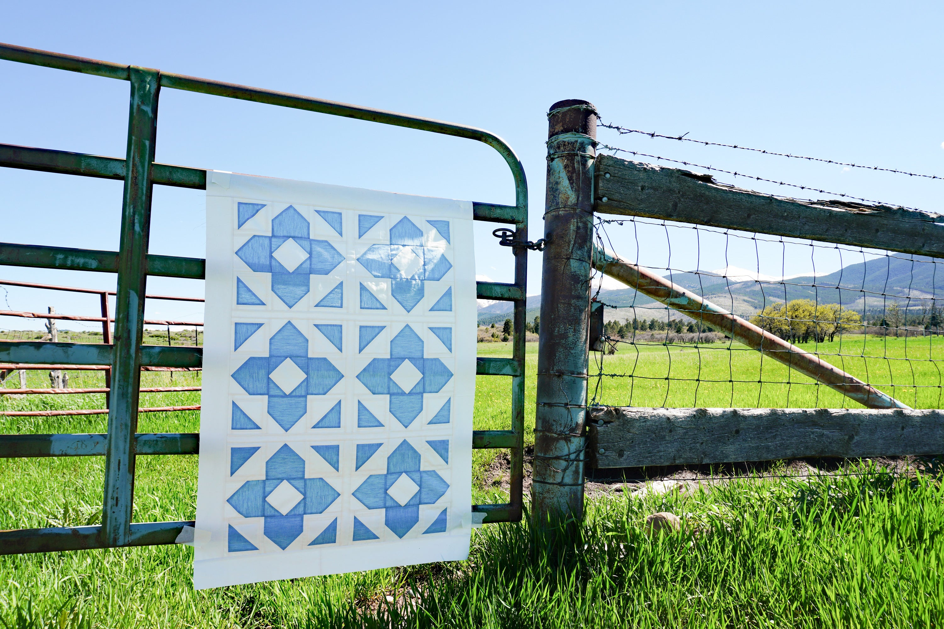 Luminaries quilt by Cotton and Joy - quilt wall hanging in the wild