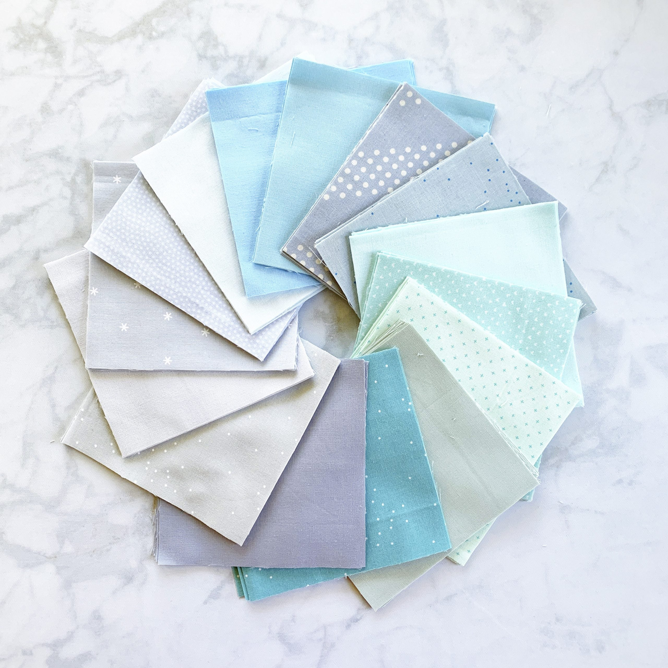 Fabric pull for a baby boy quilt
