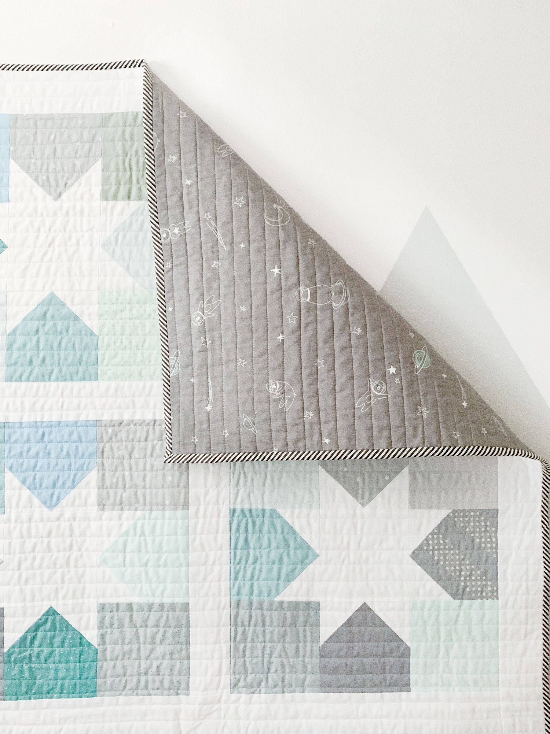 Backing on a baby boy quilt