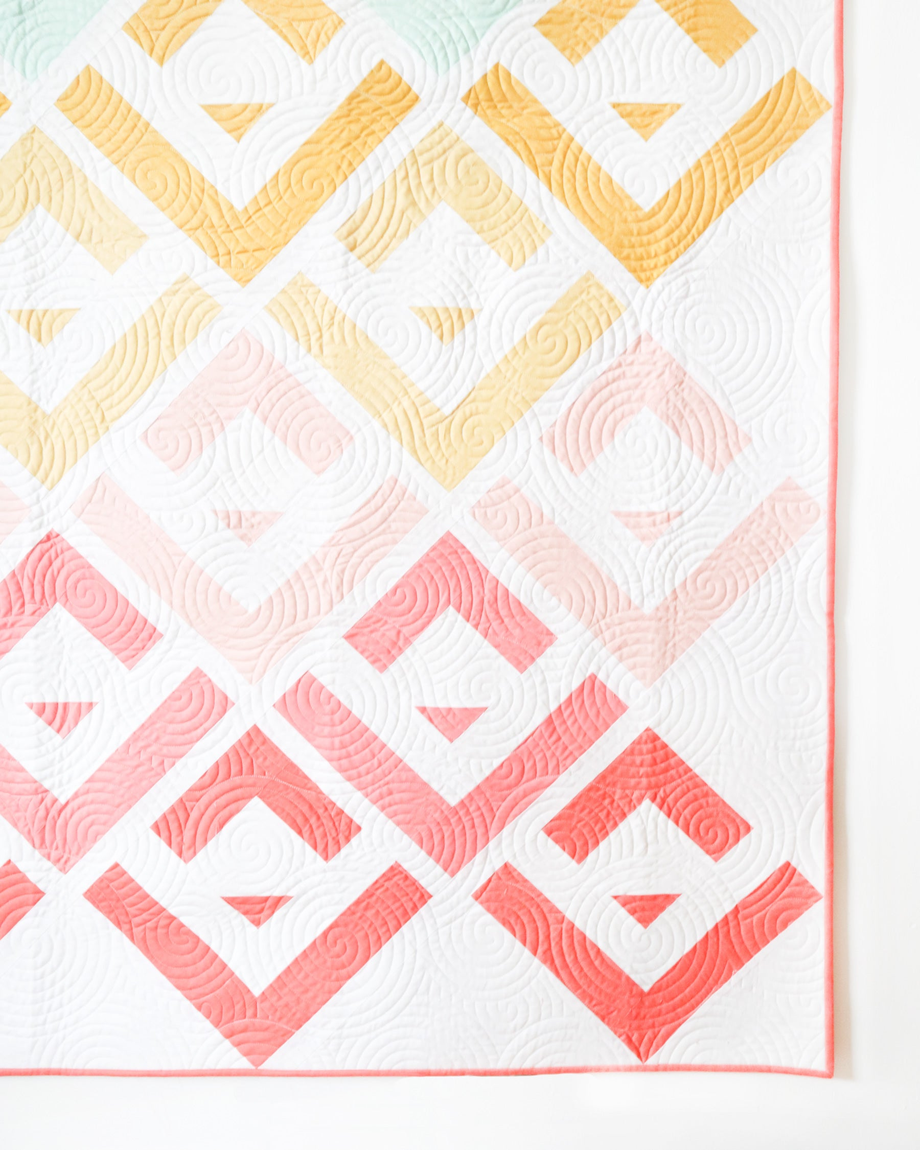 Cabin Valley quilt by Cotton and Joy - a modern log cabin quilt