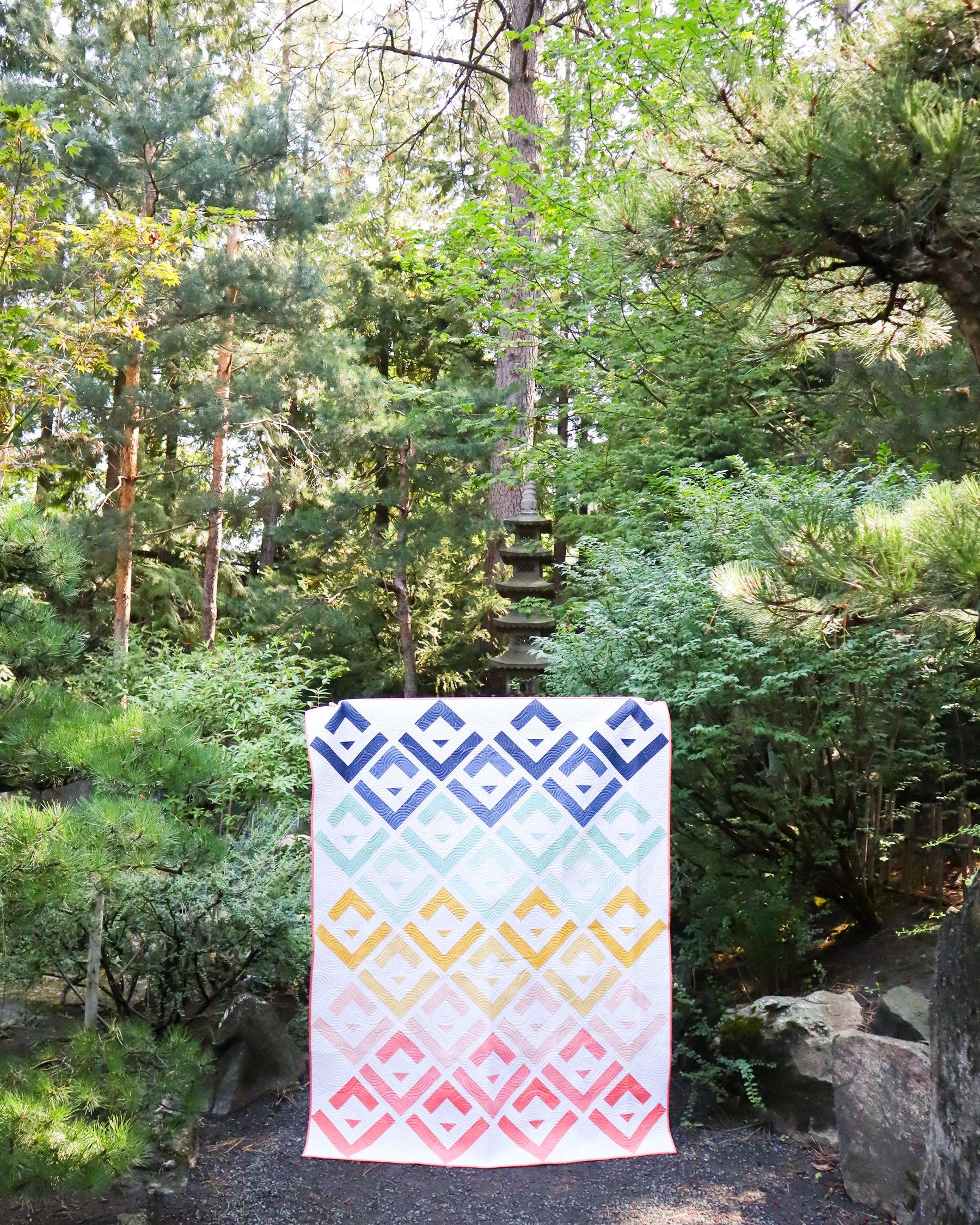 Quilts in the wild - Cabin Valley quilt by Cotton and Joy