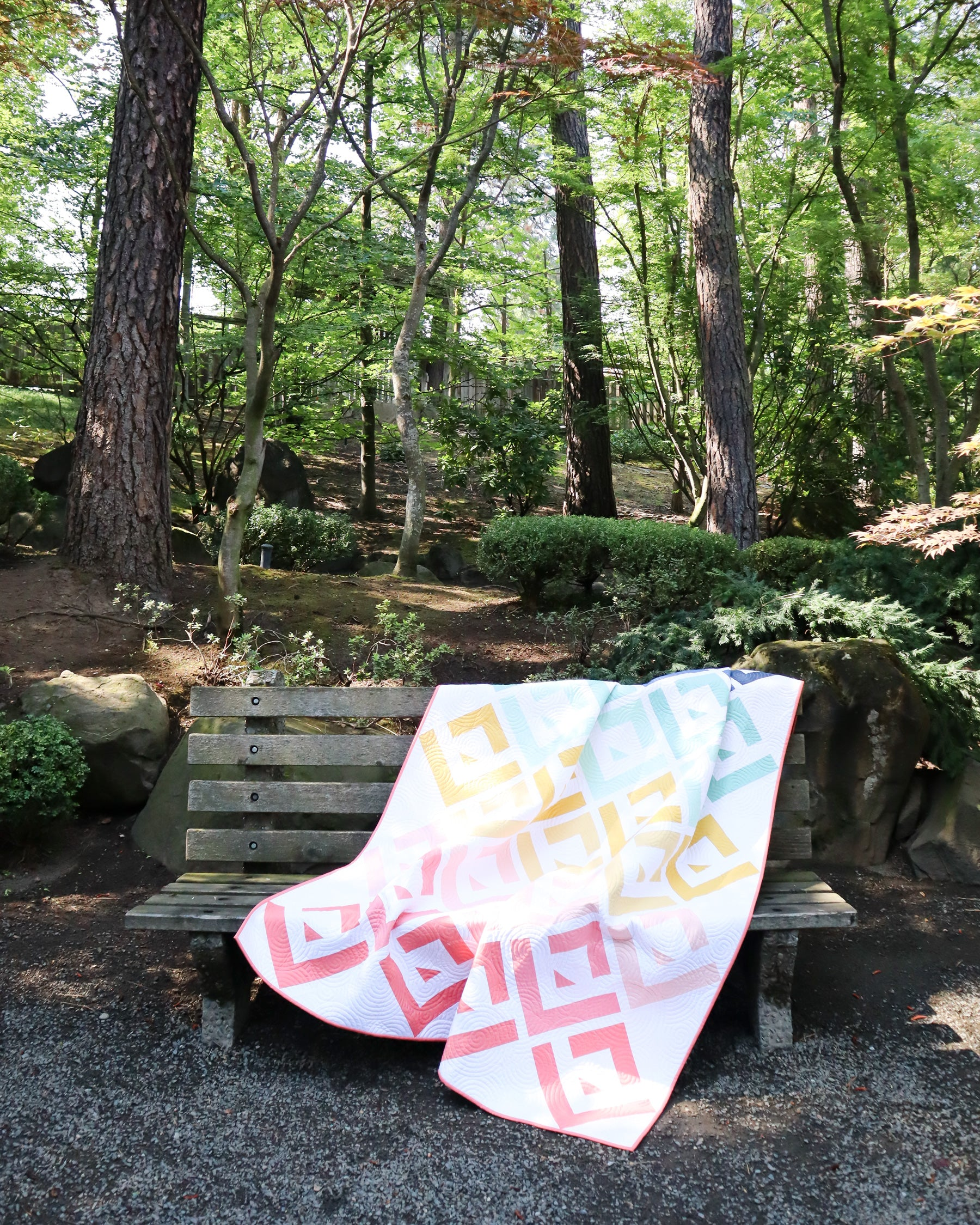 Cabin Valley Quilt - A modern log cabin pattern by Cotton and Joy